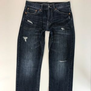American Eagle Men Jeans SZ 32X34 Relaxed Straight